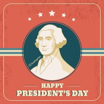Thème de la journée des présidents vintage