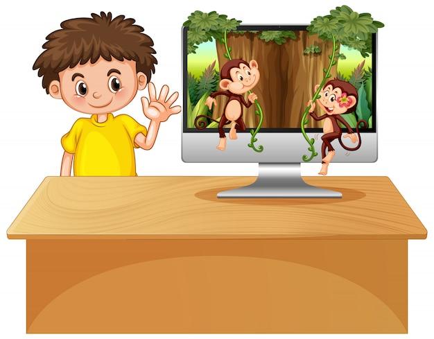 Thème de la jungle sur fond d'ordinateur