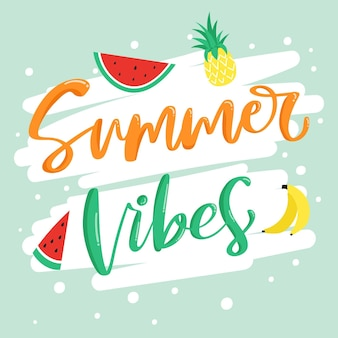 Thème de lettrage d'été