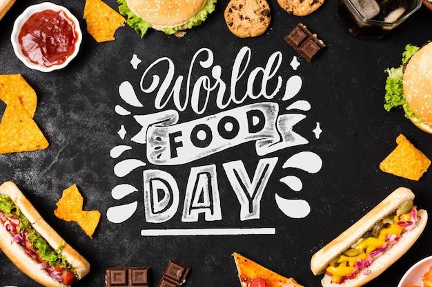 Thème de lettrage de la journée mondiale de l'alimentation