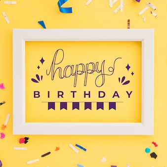 Thème de lettrage joyeux anniversaire