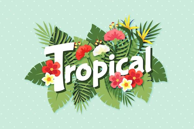 Thème de lettrage tropical