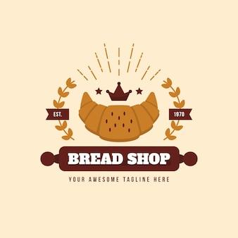 Thème de logo de boulangerie rétro