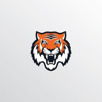 Thème de logotype de tigre sauvage