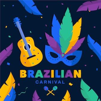 Thème maks et guitare pour le carnaval brésilien