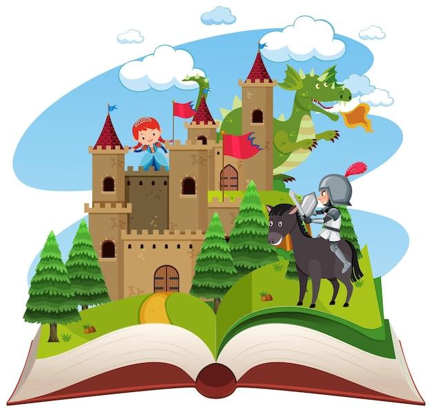 Thème médiéval de livre ouvert