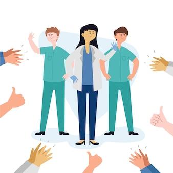 Thème de message merci médecins et infirmières