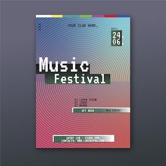 Thème de modèle d'affiche de musique abstraite