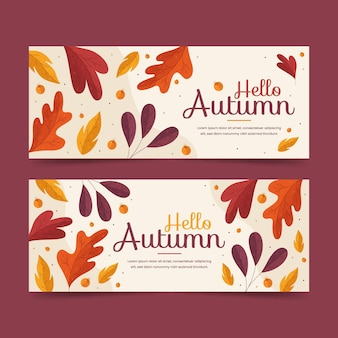 Thème de modèle de bannières automne