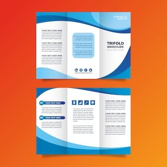 Thème de modèle de brochure à trois volets abstrait