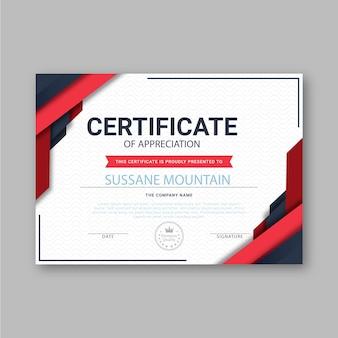 Thème de modèle de certificat abstrait