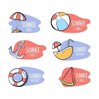 Thème de modèle d'étiquettes d'été