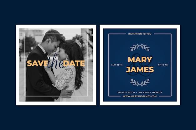Thème de modèle d'invitation de mariage