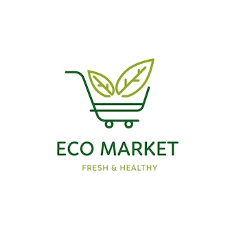 Thème de modèle de logo de supermarché