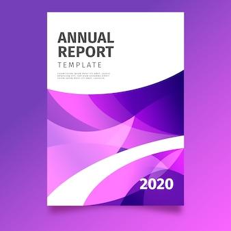 Thème de modèle de rapport annuel abstrait coloré