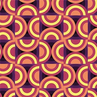 Thème de motif géométrique groovy