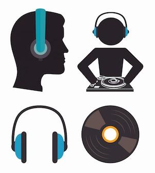 Thème de la musique dj party