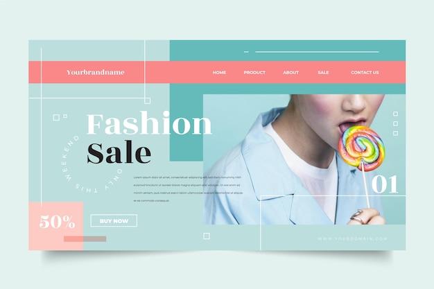 Thème de la page de destination de la vente de mode