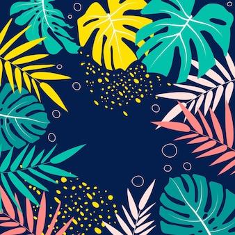 Thème de papier peint d'été coloré