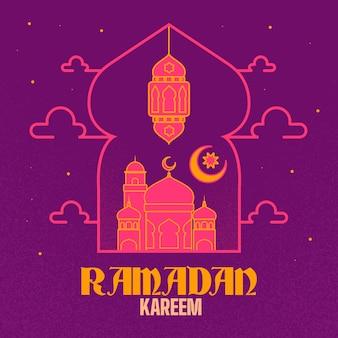 Thème ramadan design plat