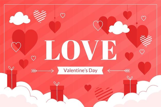 Thème de la saint-valentin pour le fond