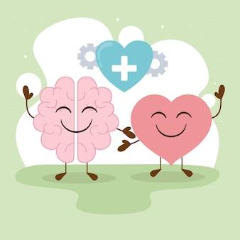Thème de la santé mentale et de l'amour