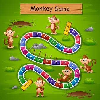 Thème de singe jeu serpents et échelles