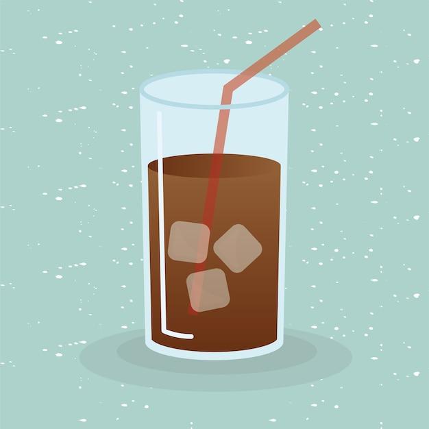 Thème de verre à café glacé