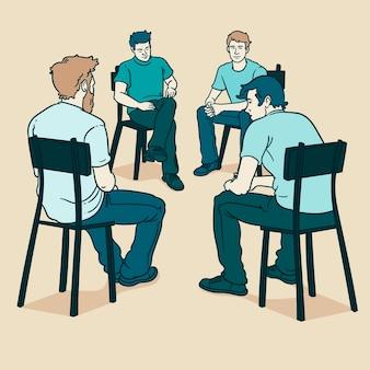 Thérapie de groupe avec des hommes