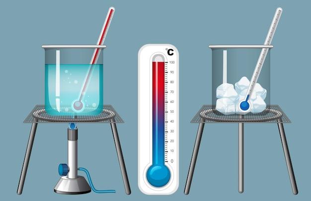 Thermomètre mesurant le froid et la chaleur