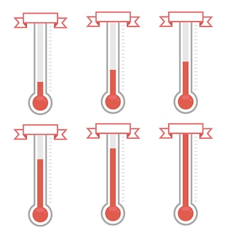 Thermomètres de but vectoriel à différents niveaux.