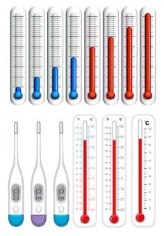 Thermomètres à différentes échelles