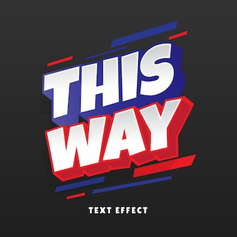 This way 3d text effect