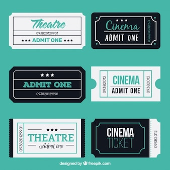 Threatre plat et billets de cinéma
