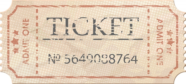 Ticket admettre un vintage.