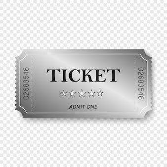 Ticket d'entrée dans le style vintage ancien.