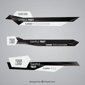 Les tiers inférieurs créatifs avec le texte