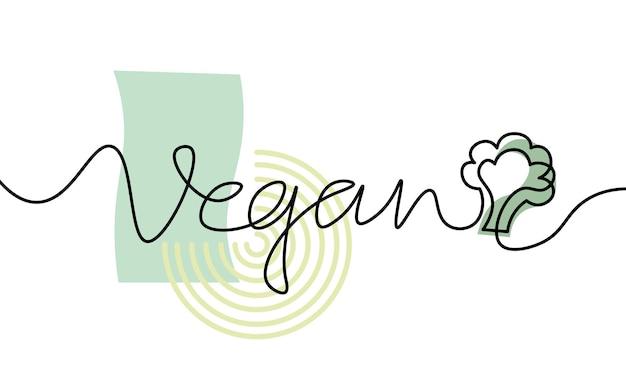 Tige de brocoli à une ligne. dessin au trait continu monochrome noir et blanc. dessin de contour de croquis d'illustration de marché de ferme biologique de nature végétalienne.