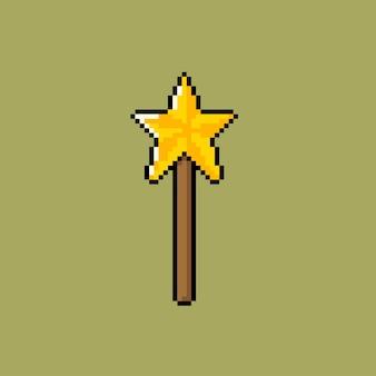 Tige étoile avec style pixel art