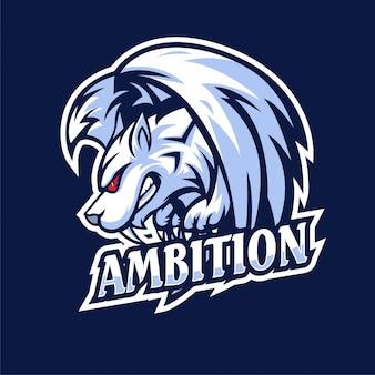 Tiger fly esports logo de jeu animaux