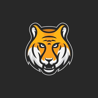 Tiger head esport logo vecteur