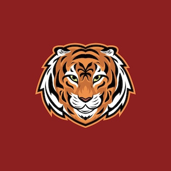 Tiger head vector illustration logo de la mascotte esport