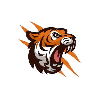 Tiger vector icon logo illustration de mascotte