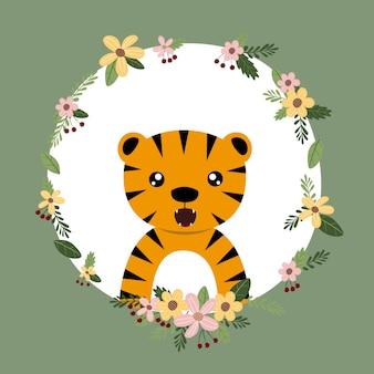 Tigre animal dessiné à la main