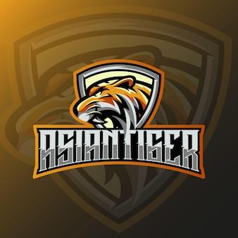 Tigre asiatique e sport logo