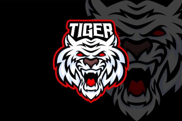 Tigre blanc - modèle de logo esport