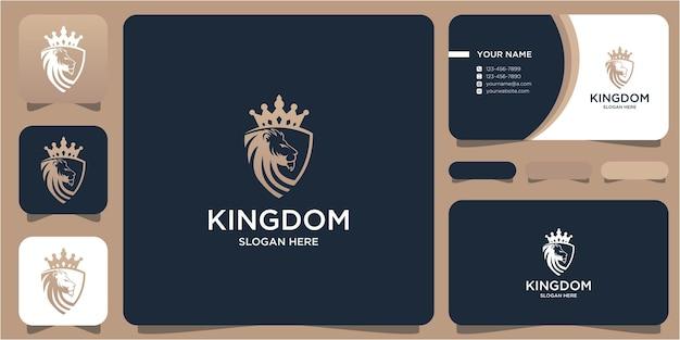 Tigre et bouclier de conception de logo simple