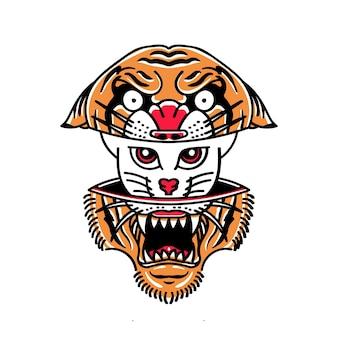 Tigre et chat