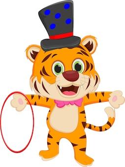 Tigre de cirque de dessin animé
