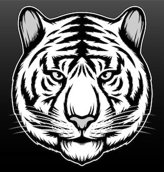 Tigre cool isolé sur noir